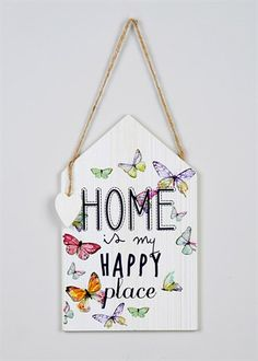 Wooden House Shaped Hanging Decoration (14cm x 16cm) - Make it feel like a home #ParkerKnoll
