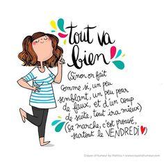 Tout va bien les girls ! On est vendredi  #humeurdujour #mathou#happy