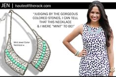 Jen from Haute Off The Rack blog styles a t+j Designs necklace!
