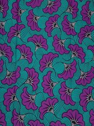 African Ankara Fabrics Lagos Real Wax Purple Flower 6 Yards For Party rw089315_5
