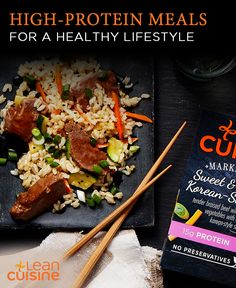 There's nothing like great tasting recipes containing high protein. Lean Cuisine® has a variety of high-protein options, like Sesame Chicken, Chicken in Sweet Barbecue Sauce, and even Sweet & Spicy Korean Beef. Pump up the protein with a Lean Cuisine® high-protein meal today.