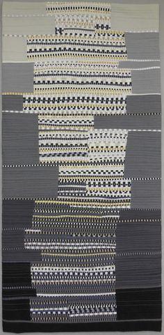 "Linear A, 2013, 16 x 32"" by Kathleen Loomis   International Threads"
