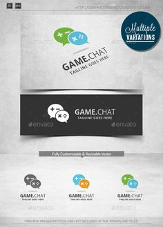 Game Chat -   Logo Design Template Vector #logotype Download it here: http://graphicriver.net/item/game-chat-logo-template/11010461?s_rank=1098?ref=nexion