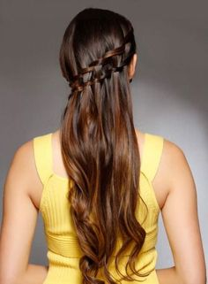 The Waterfall Braid From The Centre Look Hairstyle