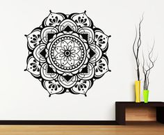 "MANDALA Wall Vinyl Decals Namaste Decal Boho Mandala Sticker Indian Decor For Home ✦ Available sizes (approximate):  Please note that images may not reflect exact size.  15"" tall x 15"" wide 22"" tall x 22"" wide  28"" tall x 28"" wide 38"" tall x 38"" wide If you need a different size, please feel free to ask. Prices may vary.  ✦ Choose the color of your decal from our color chart shown in last image of this listing. And leave the message during check out or in the order note.  Color shown: Matte…"