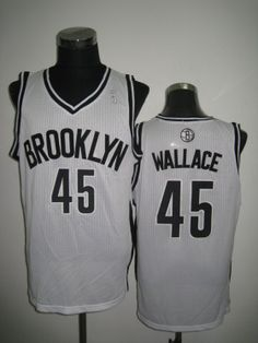 4282fe540 NBA Brooklyn Nets WALLACE  45 Jersey-white