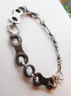 Mens Bracelet  Bike Chain and Washers  by RosePedalsJewelry, $19.00