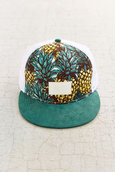 Reason Pineapple Snap-Back Hat - Urban Outfitters Wide Brimmed Hats 7062b069baf5