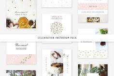 Social Media Templates: Swiss_cube - Celebration Instagram Pack