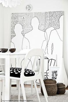 http://regineskreativiteter.blogspot.fr/ spisestue+ikea+kurver+tre+plaststoler