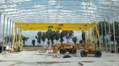 Instalación de 2 pórticos GH Cranes & Components de 10t para Inneo. Sector eólico.