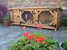 Rabbit Hutch by Ryedale Pet Homes sited in a garden in North Yorkshire.