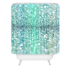 Lisa Argyropoulos Ocean Tides Shower Curtain | DENY Designs Home Accessories