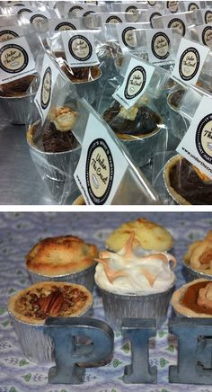 love the mini pies as alternative to wedding cake! http://underthecrust.com/