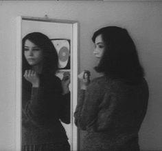 "Anna Karina in ""Le Petit Soldat"", 1963 dir. by Jean-Luc Godard."