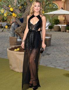 Kate Hudson opta por las transparencias para la Fundación de Leonardo DiCaprio
