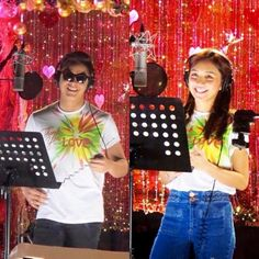 Padilla and kathryn bernardo recording the 2015 abs cbn christmas