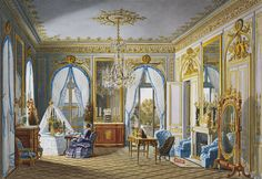 du Fournier, Royal visit to Napoleon III: Queen Victoria's dressing-room at St Cloud   The Royal Collection