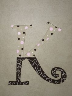 Custom Hand Painted Letter by BrookesCreativeWorks on Etsy, $15.00