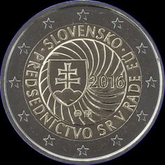 2€ Eslovaquia 2016 -Presidencia- Piece Euro, Euro Coins, Gold And Silver Coins, World Coins, Personalized Items, Italian Lira, Coins, Seals, Money