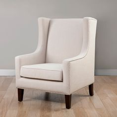 @Overstock.com - Biltmore Wing Lindy Chair - Add a modern touch to your home decor with this stylish cream chair. A lovely cream upholstery and espresso finish highlight this classic chair.   http://www.overstock.com/Home-Garden/Biltmore-Wing-Lindy-Chair/6804280/product.html?CID=214117 $339.99
