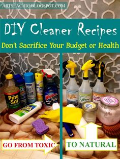{BLOGGED}: DIY Cleaner Recipes // In less time and money than it takes to go shopping at the grocery store, you can make these 5 natural cleaning products in the comfort of your own home to clean the bathroom sections I am featuring!