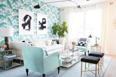 See Emily Henderson's interior design and her interview with Anna James of Fash Boulevard