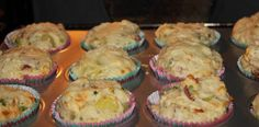 Muffinsne er ved at være færdige- Muffins med grøntsager og kartofler