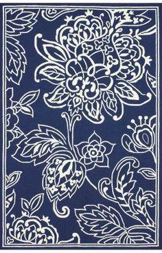 Sundeck Indoor Outdoor Floral Rug