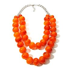 Rara Avis by Iris Apfel 2-Row Simulated Carnelian Neckl