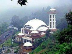 At Ta'awun mosque. Puncak paas. Bogor.  Indonesia