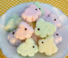 Sugared Marshmallow Bunnies--super cute
