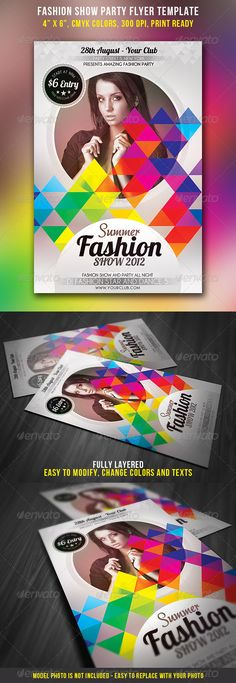 Fashion Show Party Flyer — Photoshop PSD #fancy #fashion flyer • Available here → https://graphicriver.net/item/fashion-show-party-flyer/2844421?ref=pxcr