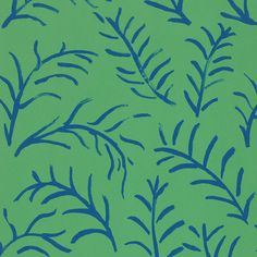 leaf wallpaper in emerald/cobalt from sanderson. bloomsbury collection.