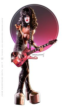 Vinnie Vincent of Kiss 1982 by petnick on DeviantArt Kiss Concert, Vinnie Vincent, Kiss Art, Best Rock Bands, Prs Guitar, Music Items, Hot Band, Guitar Collection, Star Children