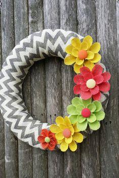 Summer Wreath Year Round Wreath Burlap Wreath by BurlapBlooms