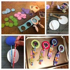 Scraplifted from a great blog (link is in a different board) and made these party favors for my daughter's tinker bell party.