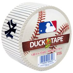 MLB™ Licensed Duck Tape® - New York Yankees http://duckbrand.com/products/duck-tape/licensed/mlb-licensed-duck-tape/new-york-yankees-188-in-x-10-yd?utm_campaign=color-duck-tape-general&utm_medium=social&utm_source=pinterest.com&utm_content=mlb-licensed-duck-tape