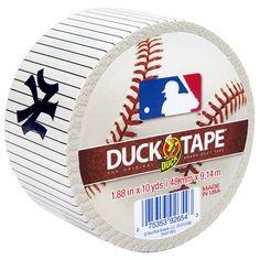 MLB™ Licensed Duck Tape® - New York Yankees http://duckbrand.com/products/duck-tape/licensed/mlb-licensed-duck-tape/new-york-yankees-188-in-x-10-yd?utm_campaign=color-duck-tape-general&utm_medium=social&utm_source=pinterest.com&utm_content=mlb-licensed-duck-tape