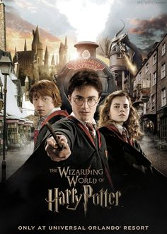 The Wizarding World of Harry Potter Classe Harry Potter, Mundo Harry Potter, Harry Potter Poster, Harry James Potter, Harry Potter Tumblr, Harry Potter Pictures, Harry Potter Universal, Harry Potter Goblet, Harry Potter Hermione