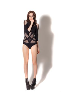 #112 OSFA A-Sassy-Nation Bodysuit by Black Milk Clothing (duplicate) (WW)