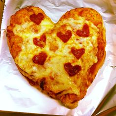 I made a heart shaped pizza for lunch for Valentines Day!