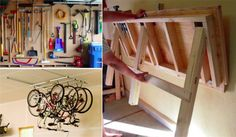25 super ideas to tidy your garage - Creatistic Tube Pvc, Garage Shed, Support Mural, Laminate Flooring, Ladder, Cool Stuff, Projects, Inspiration, Home Decor
