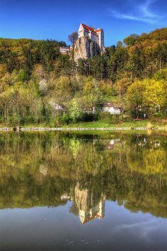 Castle Prunn at the Altmühl River - Bavaria, Germany