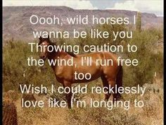 Natasha Bedingfields song, 'Wild Horses', from the album Unwritten. I love the song, and it means quite a lot to me.     I DO NOT OWN ANYTHING.