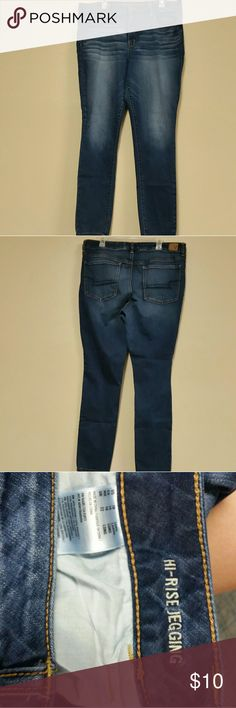 18L American Eagle Jeggings/Skinny Jeans Worn less than 10 times, these jeggings are comfy and stretchy. They are high rise and size 18 Long. American Eagle Outfitters Jeans Skinny