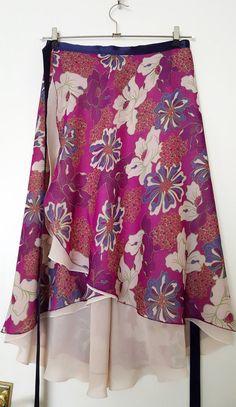 Tango Ballroom skirt : Fuchsia Flower Fantasy by LibertasAtelier