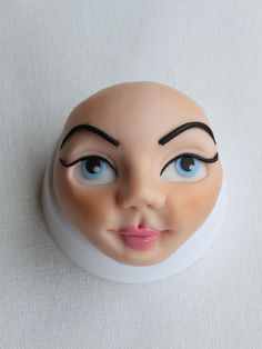 Girl face how to fondant