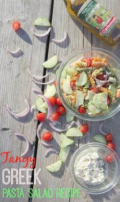 Greek Pasta Salad Recipe - (paid)