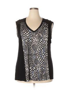 Apt. 9  Sleeveless Top: Size 18.00 Black Women's Tops - $7.99